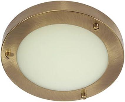 Imagen deOaks Lighting Rondo - Lámpara redonda de techo para baño (G9), color latón envejecido