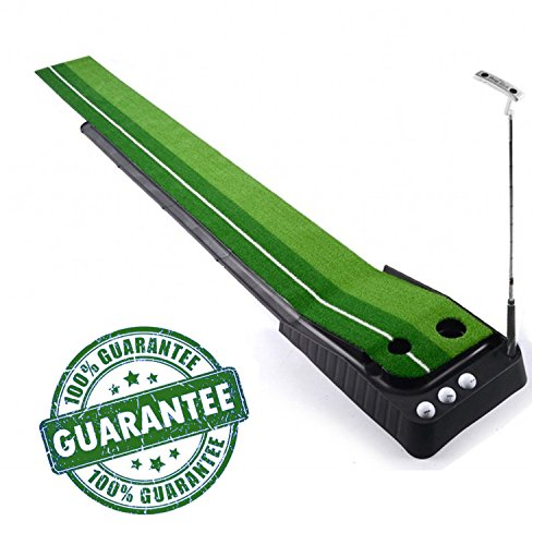 Indoor Golf Set, KUNGIX Indoor Golf Putting Trainer Portable Golf Practice Putting Mat Putter Trainer
