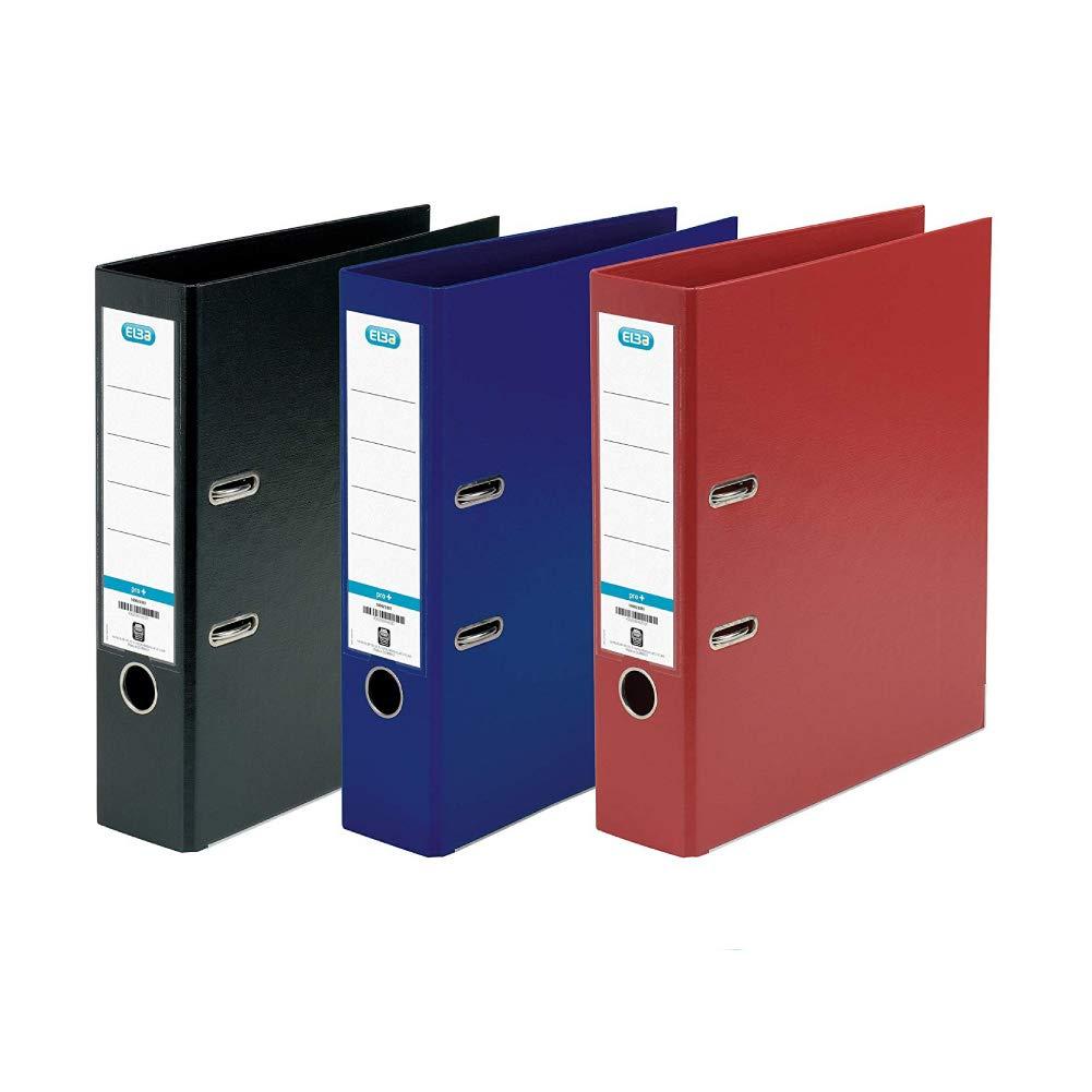 A4 Lever Arch Files 3 Folders Assorted Elba