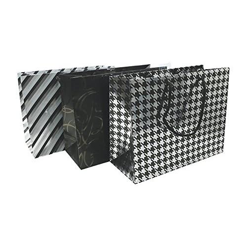 Clairefontaine 212827C Sac shopping 32x13x24,5cm Collection Premium Noir Motif aléatoire