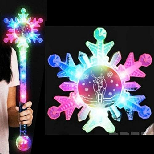 Light Up Flashing Wand with Animated Snowflakes and Reindeer - Unlike Anything You've Ever seen Before! ()
