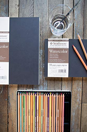 "Strathmore 483-5 Softcover Watercolor Art Journal, 8"" x 5.5"", White, 24 Sheets"