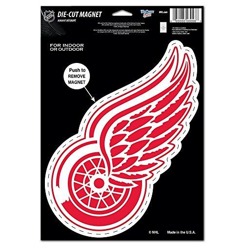 NHL Detroit Red Wings Die Cut Logo Magnet, 6.25