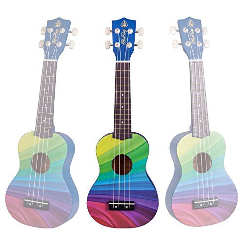 Honsing Soprano Ukulele Beginner Hawaii kids Guitar Uke Basswood 21 inches with Gig Bag- Rainbow Stripes Color matte finish - Image 5