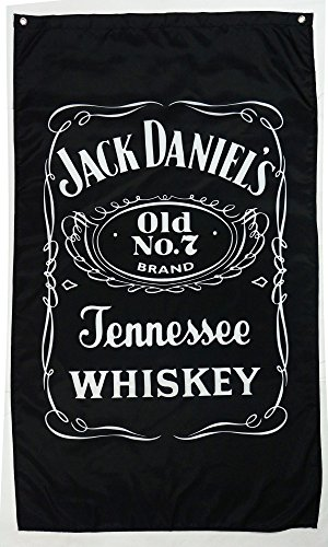 jack daniel's flag jack daniels banner jack daniel's happy hour flag jack daniel's whiskey banner--polyster flags,Brass Grommets ,Anti-UV,Digital Printing--flags 3 X 5 (Outdoor Jack)