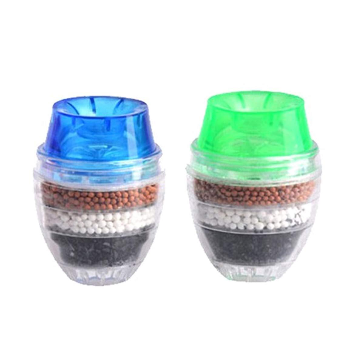 BESTONZON - 2 filtros de agua para grifo de cocina, a prueba de salpicaduras, filtro purificador de agua, color al azar