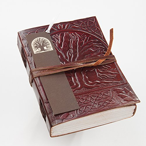 LEATHER BLANK BOOK ~ Tree of Life Handmade Journal Diary Notebook w/ FREE Matching (Classic Oak Canopy)