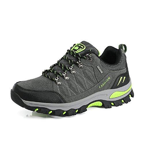 Neoker Des Femmes Des Hommes Chaussures De Marche Formateurs De Randonnée Bas Top Escalade Trekking Conduite Chaussures De Sport En Plein Air Gris Taille 3-10 Uk