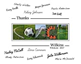Personalized Soccer Coach gift, coach's gift to be signed by players, 11x14 with border for signatures