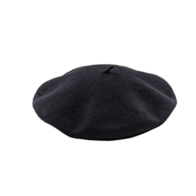 050bdbcc47f Black French Beret Hat Fancy Dress Accessory Winter Autumn Wool Unisex Cap