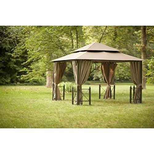 Hampton Bay 12 Ft X Harbor Gazebo With Mosquito Netting