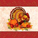 Creative Converting Thanksgiving Scroll Bulk Lunch Napkins, 36 Count
