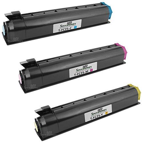 Speedy Inks - 3PK Toshiba Compatible E-Studio 2040/2540C/3040C/3540C/4540C Toner Cartridge Combo Pack 1ea T-FC25-C, T-FC25-Y, T-FC25-M (Pack Toshiba)