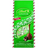Lindt LINDOR Holiday Milk Peppermint Cookie Truffle Gift Bag, Kosher, 19 Ounce