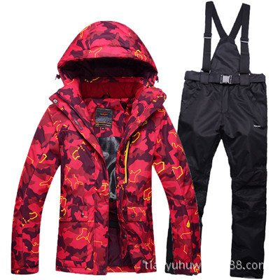 Men Waterproof Black Ski Coat Pants Windproof JACKETS Warm Zipper DYF Jacket Orange FYM Suit Women fAqEzxcw