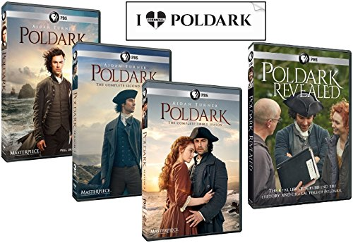 Poldark Ultimate Gift Set: Complete Seasons 1 thru 3 + Poldark Revealed + Bonus Sticker (10 DVDs) by