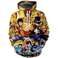 Anime ONE PIECE 3D Digital printing Hoodie Sweater round neck long sleeve fashion comfortable tops-M