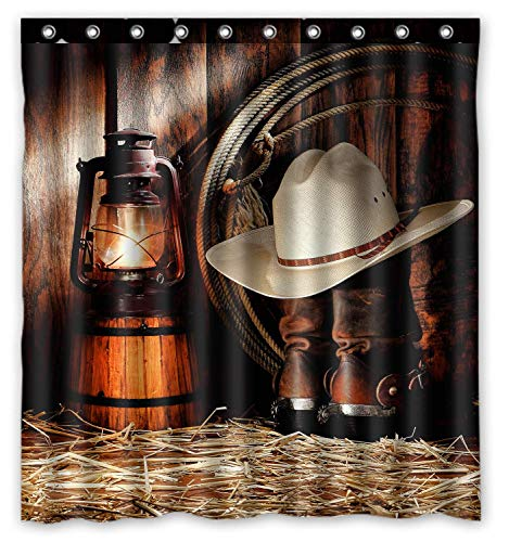 FMSHPON American West Rodeo Cowboy Waterproof Polyester Fabric Bathroom Shower Curtain 66x72 Inches (Sets Country Bathroom)