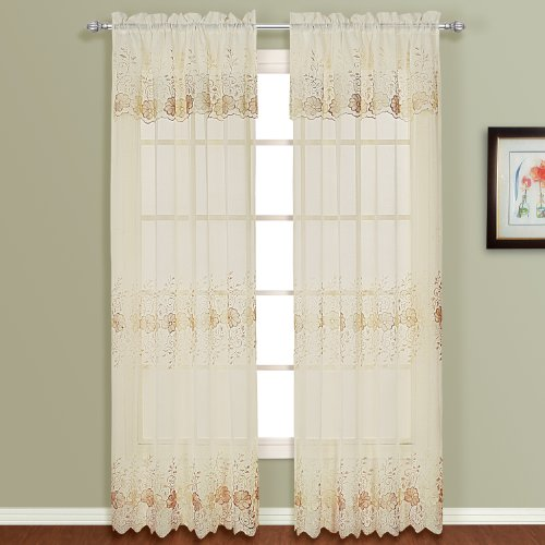 American Curtain and Home Ginger Window Curtain, 50-Inch by