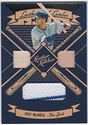2019 Panini Leather & Lumber Triple Bats/Jersey #7 Jeff McNeil Mets Relic