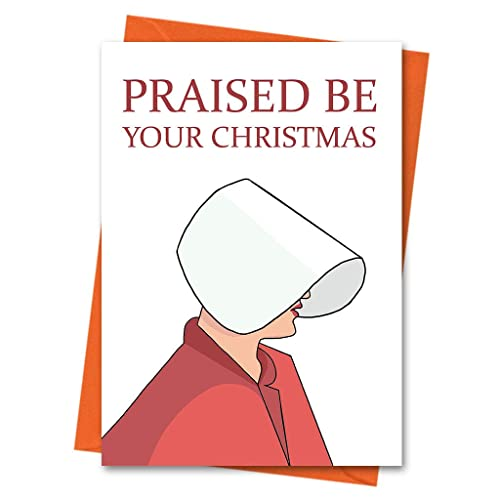 Amazon Com Handmaid S Tale Christmas Card Praised Be Blessed Be