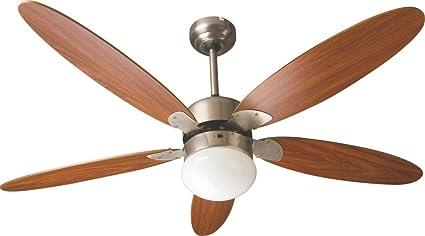 Zephir zfr9111m ventilatore da soffitto con lampada marrone: amazon