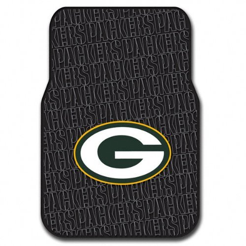 NFL Green Bay Packers Auto Front Floor Mat, 2-Pack