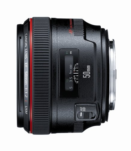 Canon EF 50mm f/1.2 L USM Lens for Canon Digital SLR Cameras – Fixed