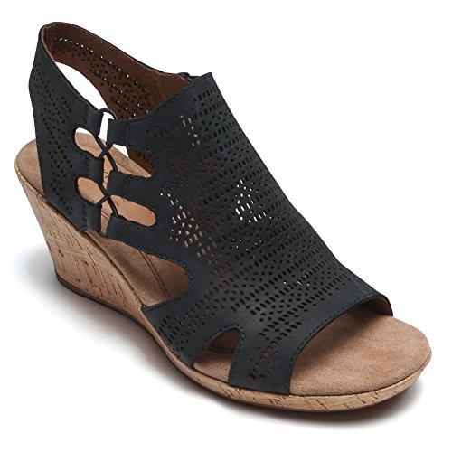 36 Chaussures Bt Rockport Ch Eu Femme Black Perf Nbk 5 Janna nawBYqdxB