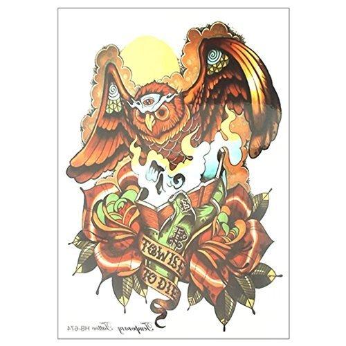Third eye chakra owl Wulfaz Cherokee Indian headdress TEMPORARY TATTOO cover up native American eagle feathered head dress FAKE TATTOO scar cover up body make up stretch mark cover up body jewelery