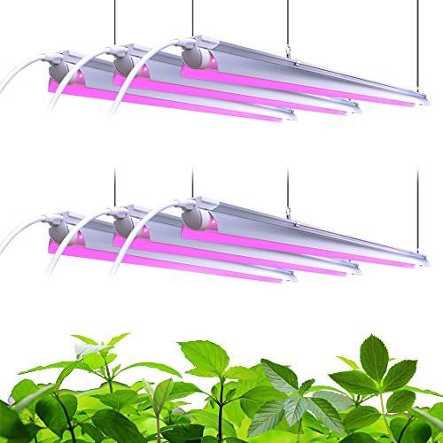 Barrina LED Grow Light, 252W(6 x 42W) 4ft T8, Full Spectrum, V-Shape with Reflector Combo, Linkable Design, Plant Lights for Indoor Plants, 6-Pack