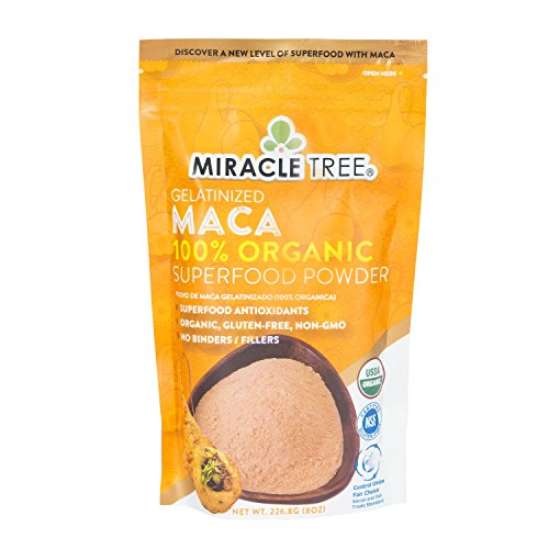 Amazon.com: Miracle Trees 100% Organic Maca Superfood Powder   Smoothies, Baked Goods, Lattes   8oz. (0.5lbs) Pouch   Fair Trade Certified, ...