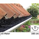 Dachrinnenbürste 10 Meter Ø 12cm, inkl. 6 Sicherungsklammern gegen Sturm und Wind