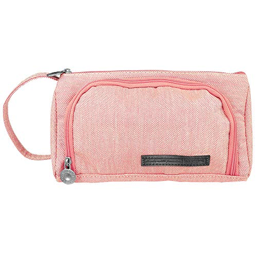 Pencil Pen Case/Makeup Cosmetic Bag,VersionTECH.Multipurpose Travel Storage Bags/Brush Stationery Pouch Toiletry Kit Large Capacity with Zipper for Student/Women & School/Office (Pink)