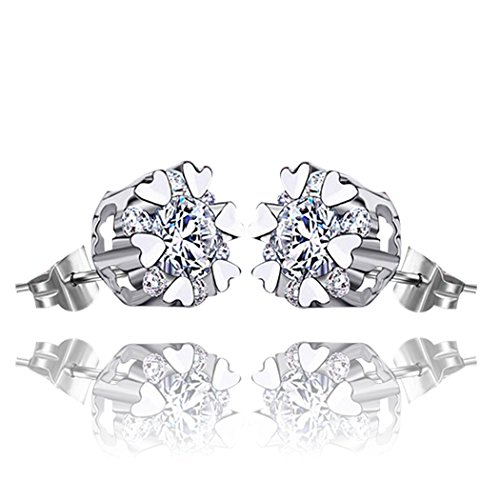 Time Pawnshop Simple Sterling Silver Temperament Lady Stud Earrings