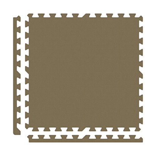 Alessco EVA Foam Rubber Interlocking Premium Soft Floors 10' x 14' Set Brown