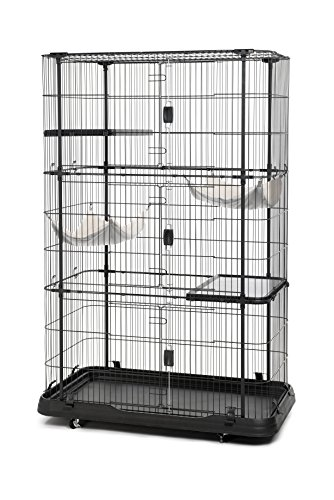 Prevue Pet Products Premium/Deluxe Cat Home, Black
