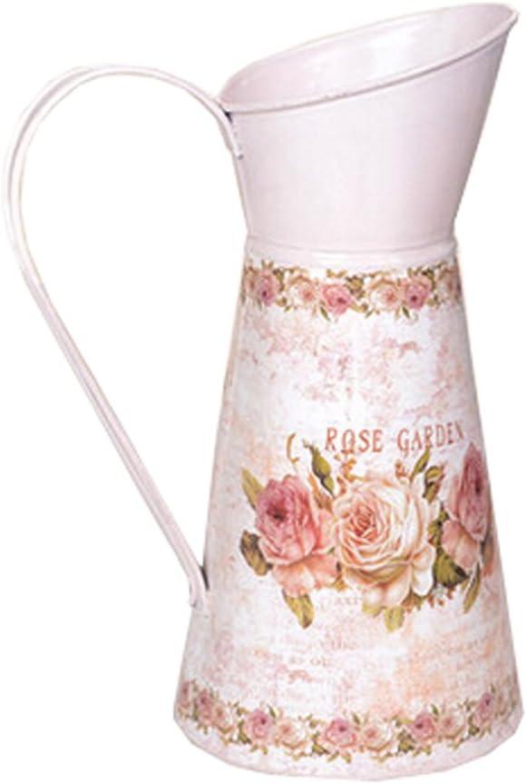 Blancho Bedding Vase d/écoratif en Fer Motif Floral Rose