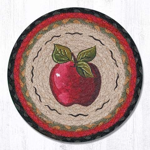 Earth Rugs TS-238A-4 Set of Trivets, 10''x10'', Red by Earth Rugs
