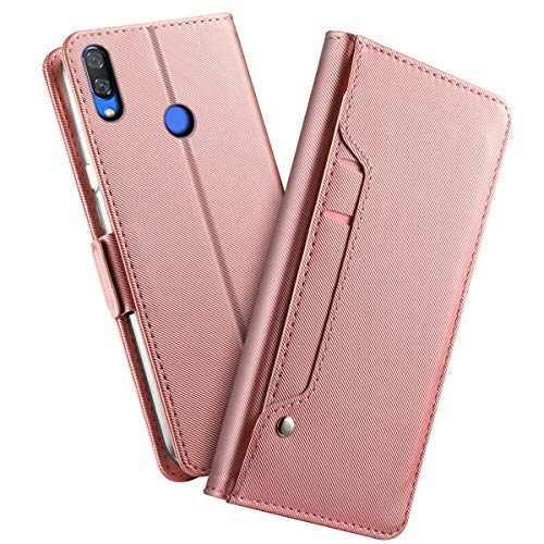 - AICEDA for Xiaomi Redmi Note 7 Pro Case, [Extra Card Slot] [Wallet Case] PU Leather TPU Casing Backcover [Drop Protection] Case Replacement for Xiaomi Redmi Note 7 Pro, Rose Gold