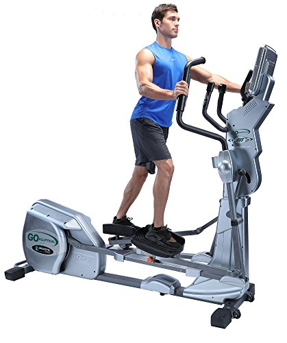 "GOELLIPTICAL LX-03 Light Commercial Motorized VST 19""-25"" Elliptical Exercise Cross Trainer Machine for Cardio Fitness Strength Conditioning Workout"