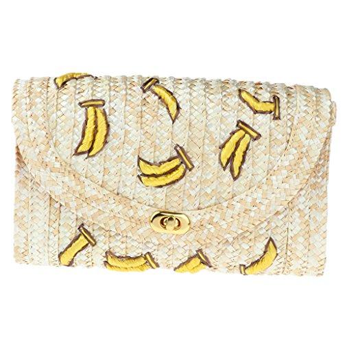 Straw Bag Woven Women Handbags Banana Homyl Bags Chain Hand Ladies Clutch Beach Summer Shoulder wqCnxf5d