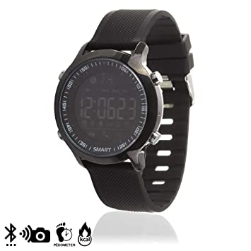 DAM TEKKIWEAR. DMX001BLACK. Sport Smartwatch Ex18 Digital Watch con Notificaciones Y Podómetro. Bluetooth 4.0. Correa Regulable.