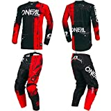 O'Neal Element Shred Red Kids/Youth motocross MX off-road dirt bike Jersey Pants combo riding gear set (Pants 8/10 (24)/Jersey Kids Medium)
