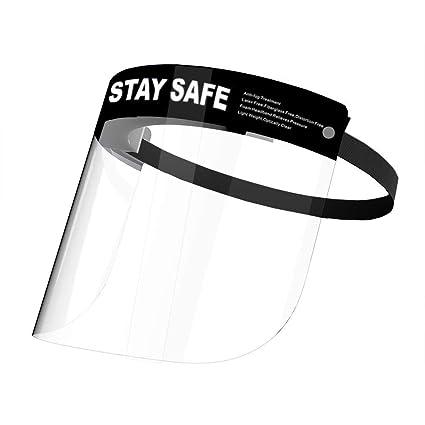 Protector facial protector transparente de protecci/ón facial y ocular ajustable y reutilizable con 2 cubiertas transparentes adicionales.