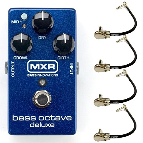 MXR M288 Bass Octave Deluxe Effects Pedal Bundle with 4
