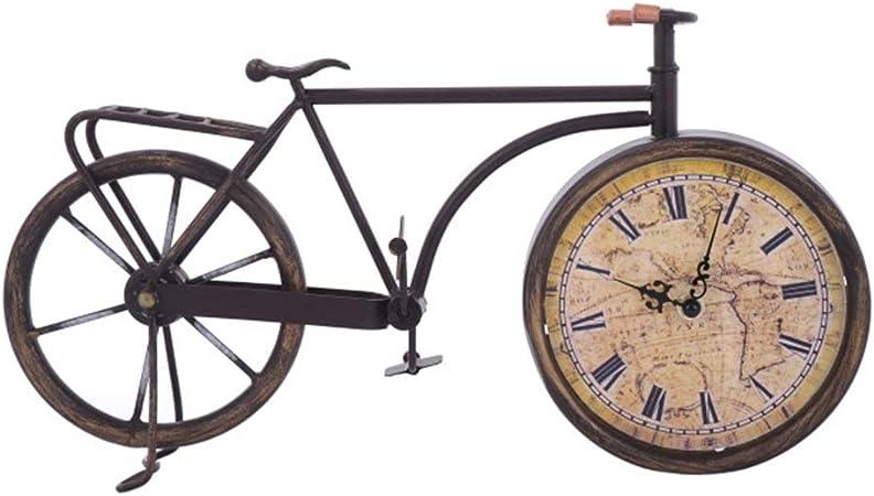 H.Y.FFYH Reloj de Pared Creativa Antiguo Retro Bicicleta Vieja Modelado Hierro Forjado Reloj Mudo for no marcando Inicio Salón Dormitorio 40 * 22cm Inicio Decorativo: Amazon.es: Hogar