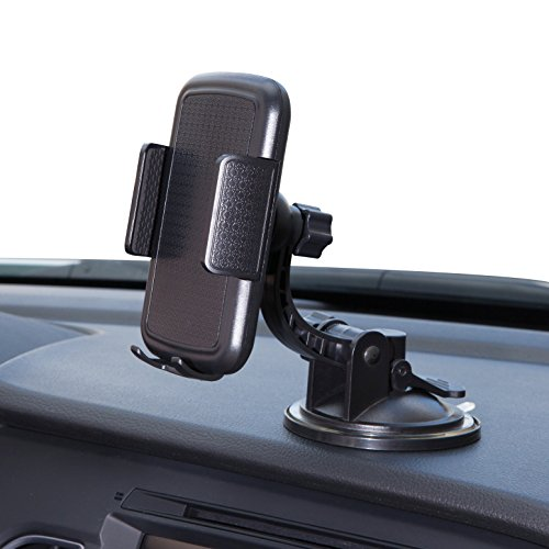 Bestrix Universal Dashboard & windshield Car Phone Mount Holder for iPhone 6/6S/7/8/X Plus 5S/5C/5 Samsung Galaxy S5/S6/S7/S8 Edge/Plus Note 4/5/8 LG G3/G4/G5/G6 all smartphones up to 6