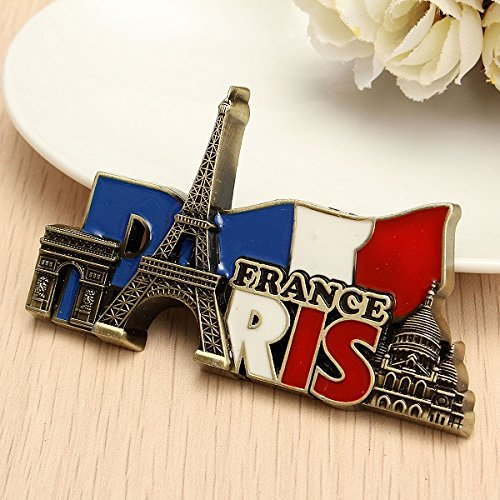 Paris France Travel Collectible Metal Stereoscopic Fridge Magnet Sticker Tourist - Magnet Fridge Collectible
