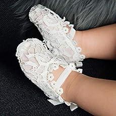 64d3828194e09 Amazon.com: Grace White Baby Girl Lace Headband: Handmade